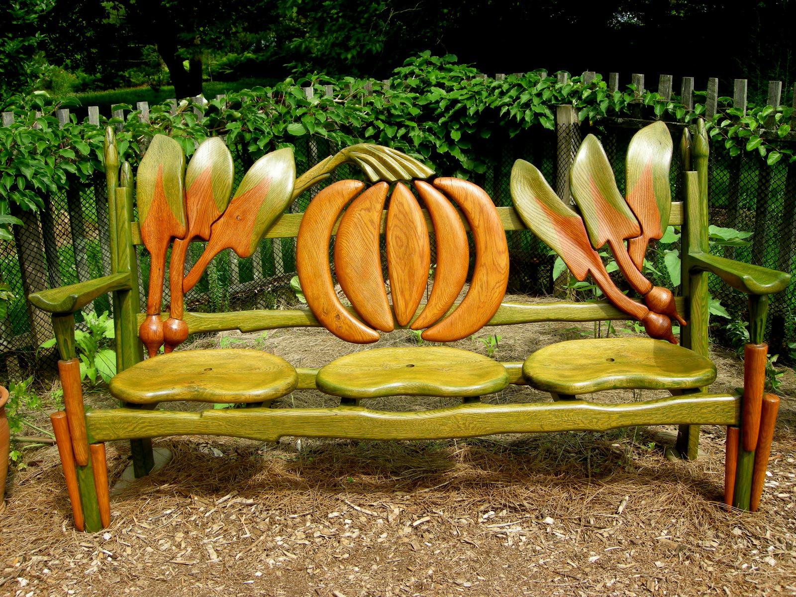Chanticleer part 2 garden seating carolyn 39 s shade gardens for Banc jardin pas cher