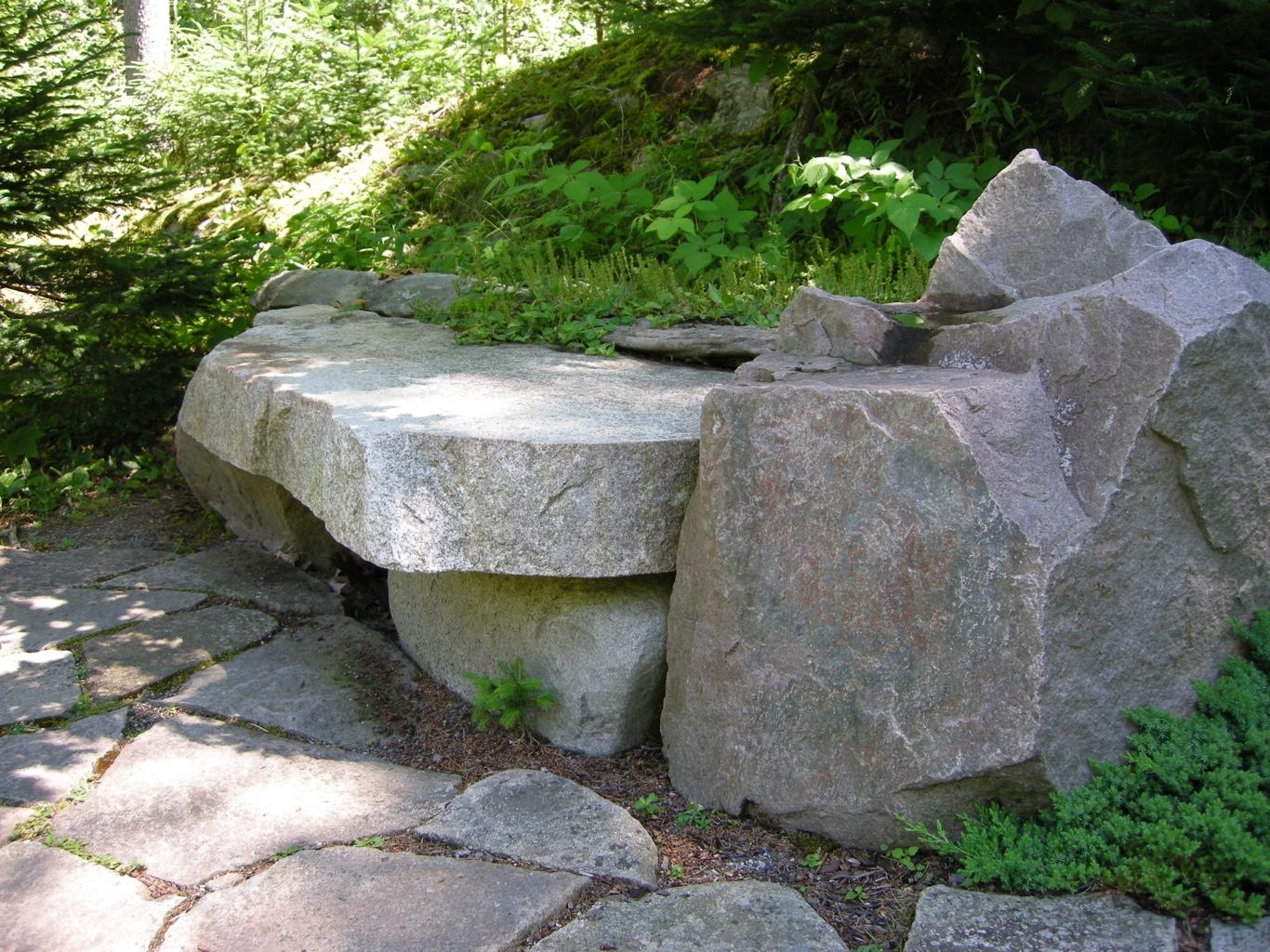 Natural Rock Garden Seating CAROLYNS SHADE GARDENS
