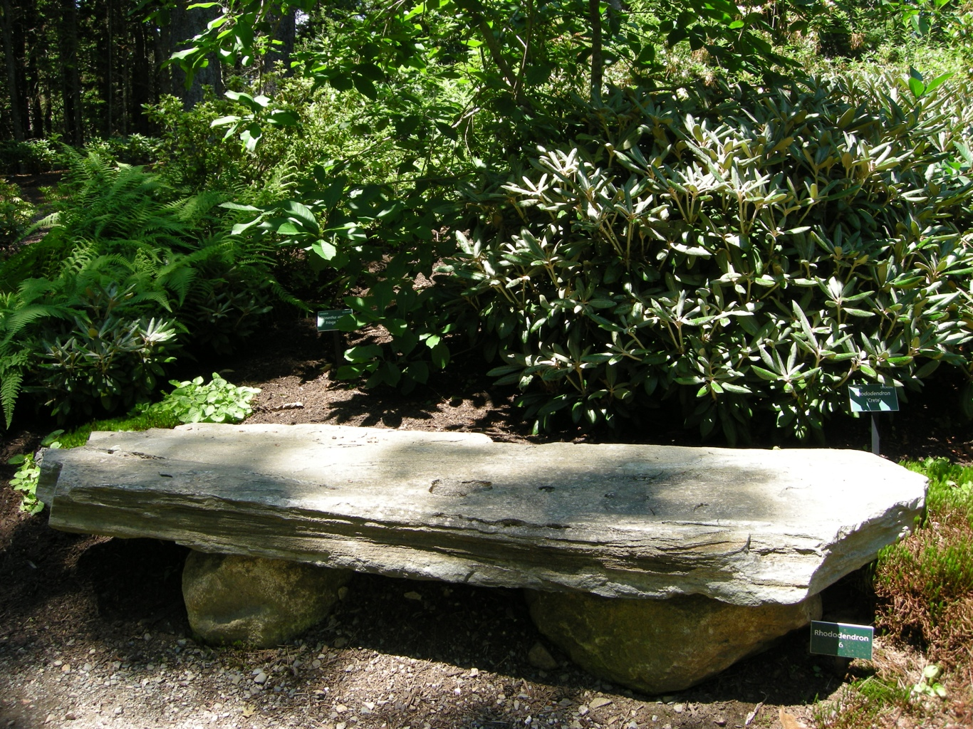 Outdoor Natural Stone : Natural rock garden seating carolyn s shade gardens