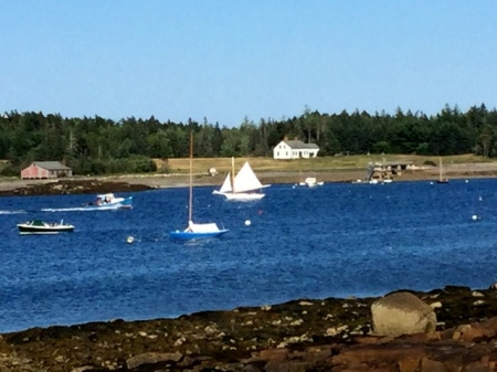 View from The Boathouse at the Claremont Hotel, Southwest Harbor Maine